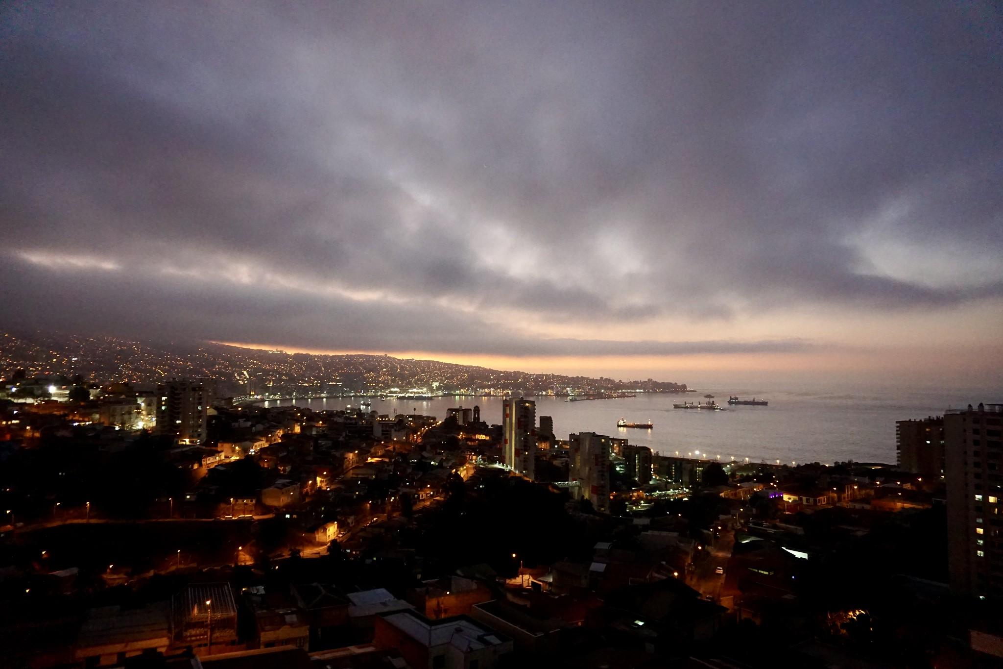 Valparaíso visto desde el cerro Los Placeres