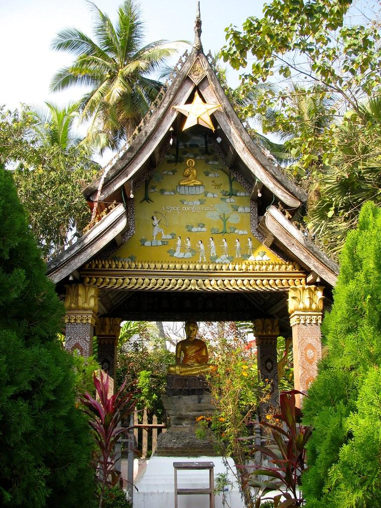 Jardines Wat Xieng Thong