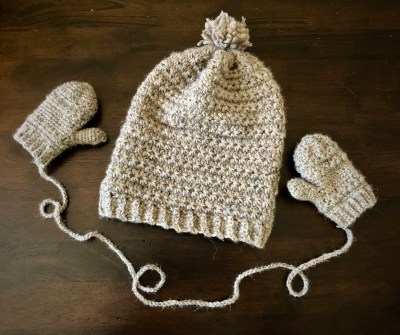 mittens with the Toddler Star Stitch Slouchy