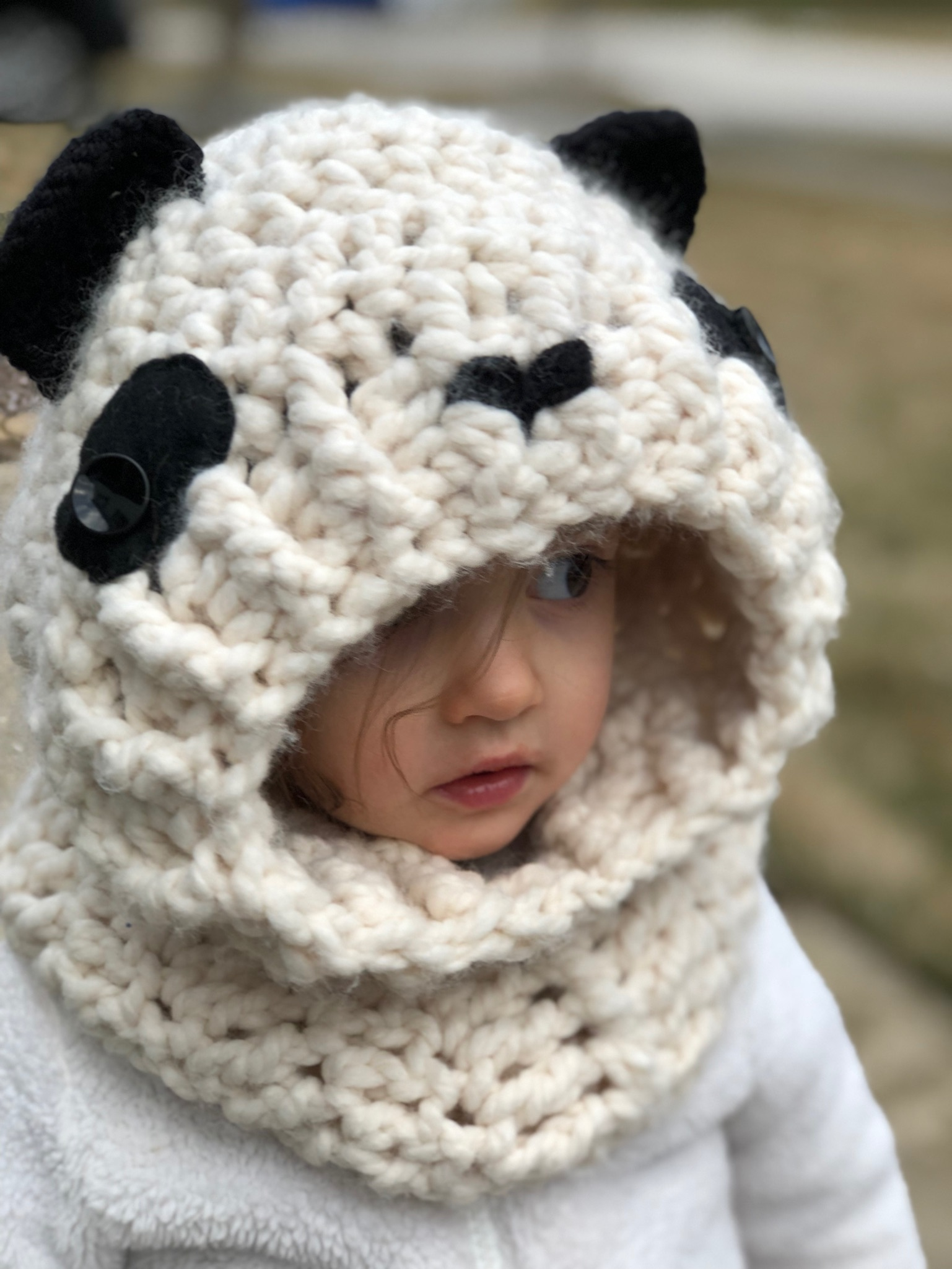 Hooded Panda Cowl- Blog Post
