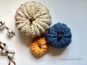 Simple Ribbed Pumpkins