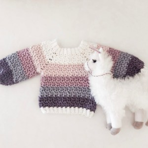 El's Top-down Sweater- Free Crochet Pattern