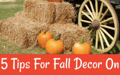 5 Tips For Fall Decor On A Budget!