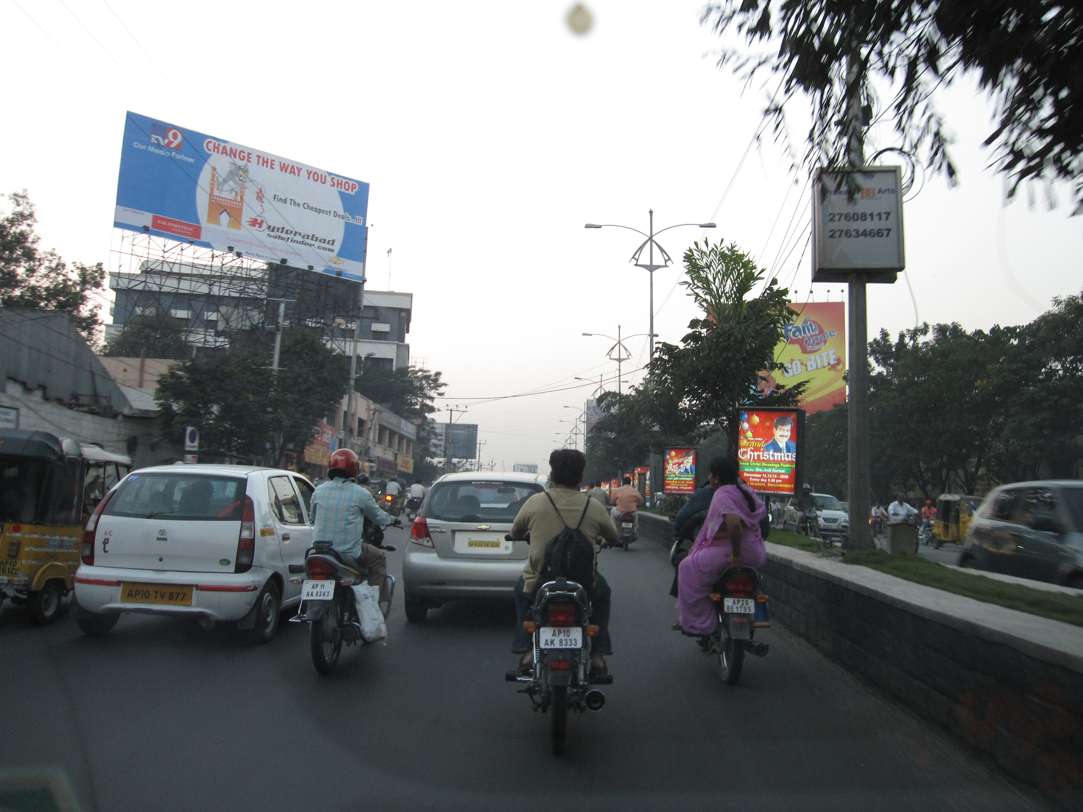 Commuters in Hyderabad