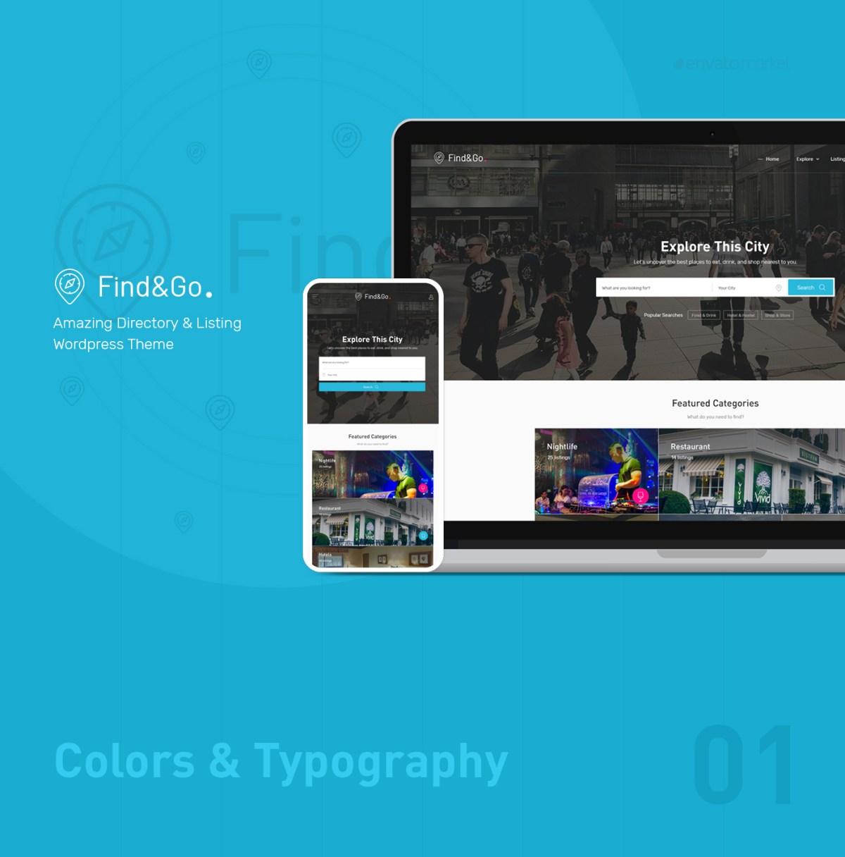 Findgo - Directory Listing WordPress Theme - 1