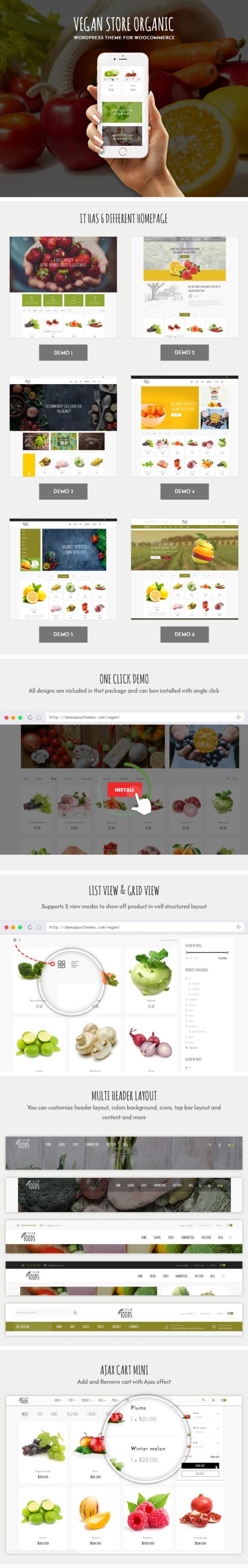 Vegan Food - Organic Store - Farm Responsive Woocommerce WordPress Theme - 1