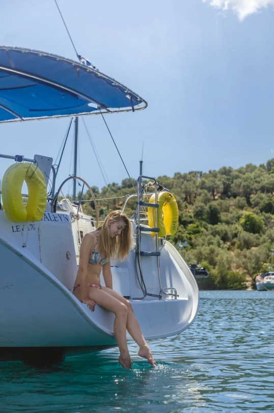 APZmedia - stills from Antlos Betteronboard in Lefkadas, Greece