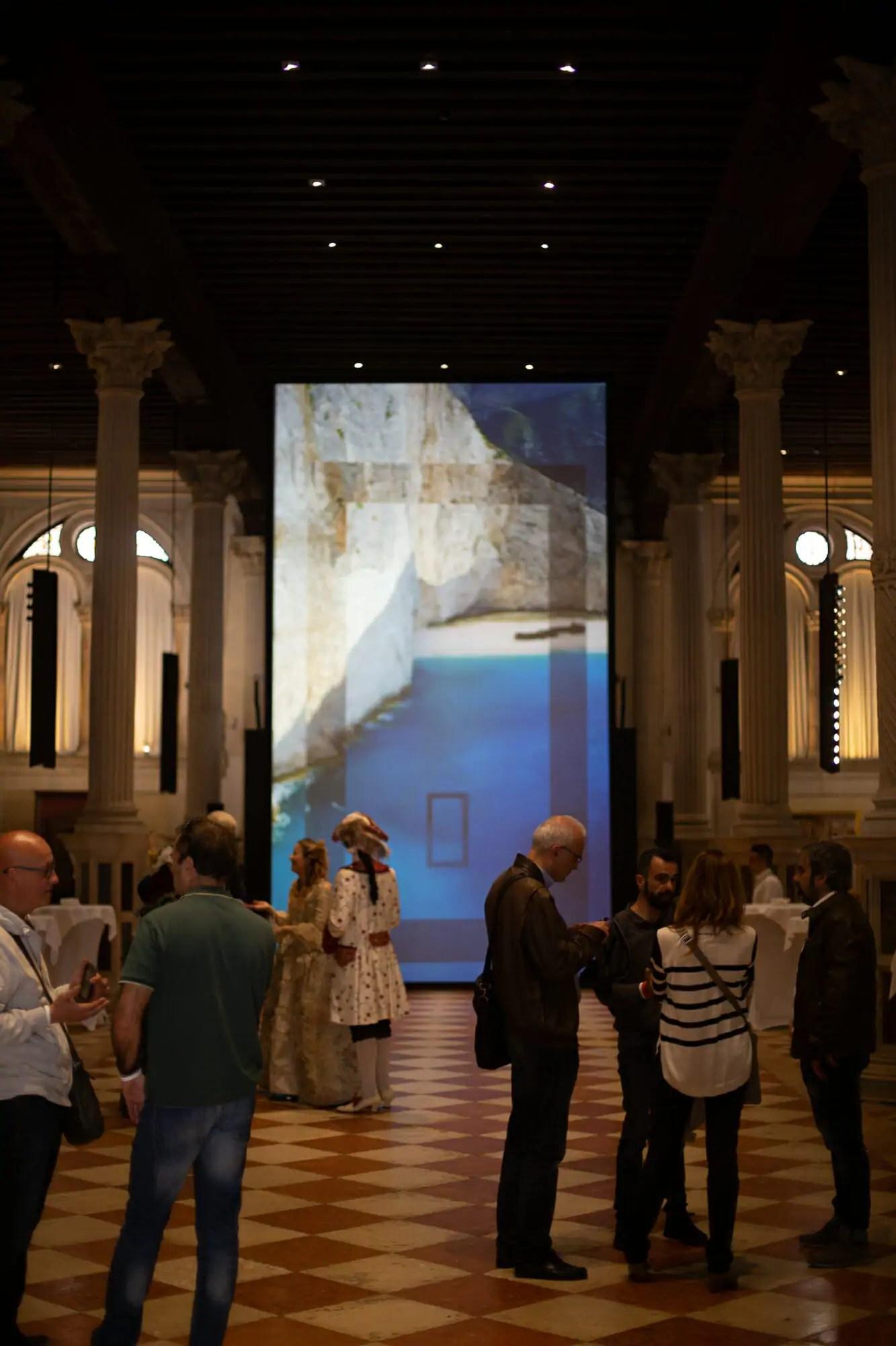 APZmedia's concept for the Oikos presentation at the Scuola di San Rocco in Venice