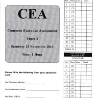 Common Entrance Past Papers 2019