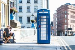 image: Blue phone box