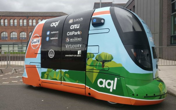 aql announces plan to bring 'super-connected' self-driving PODs to Leeds.