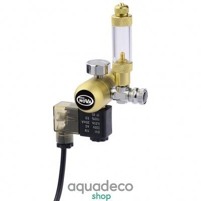 Купить Редуктор CO2 Aqua Nova NCO2-REG с счетчиком пузырьков и электромагнитным клапаном в Киеве с доставкой по Украине