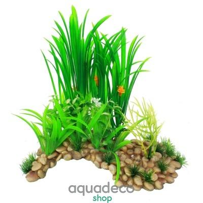 Купить Искусственное растение Yusee Пещера с растениями XL 20x14x33см в Киеве с доставкой по Украине
