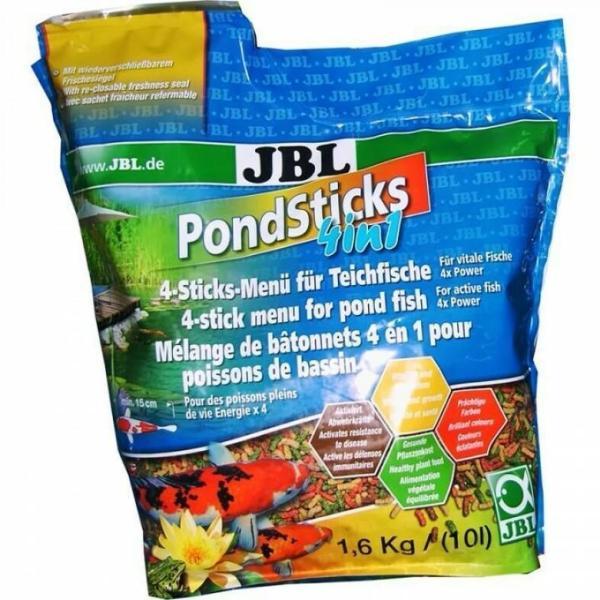 JBL POND Sticks 4 in 1 корм для прудовых рыб, 10.5 л (пакет)