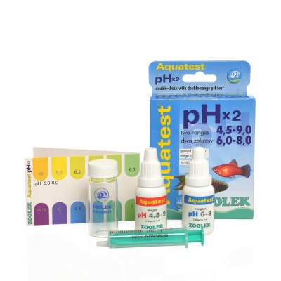 Тест pH (4,5-9,0)_(6,0-8,0) Zolek Aquatest pH x2  (ZL1020)  AquaDeco Shop