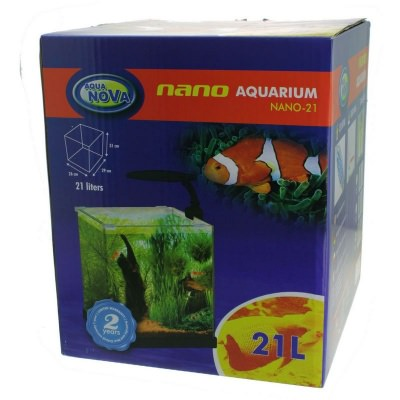 Аквариум AQUA-NOVA NANO  (NANO-21 BLACK) NANO 21SILVER 1 AquaDeco Shop
