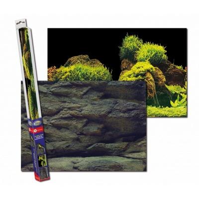 Аквариумный задний фон AQUA-NOVA Скалы_Растения ROCK_PLANTS S (ROCK/PLANTS S) ROCKPLANTS S AquaDeco Shop