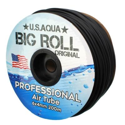 Шланг U.S.AQUA Airline Black черный 4_6мм силиконовый  (usaqua-black200) usaqua black200 AquaDeco Shop