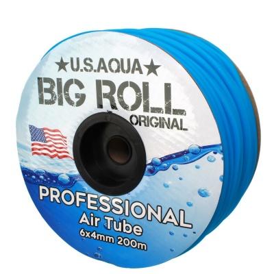 Шланг U.S.AQUA Airline Blue синий 4_6мм силиконовый  (usaqua-blue200) usaqua blue2001 AquaDeco Shop