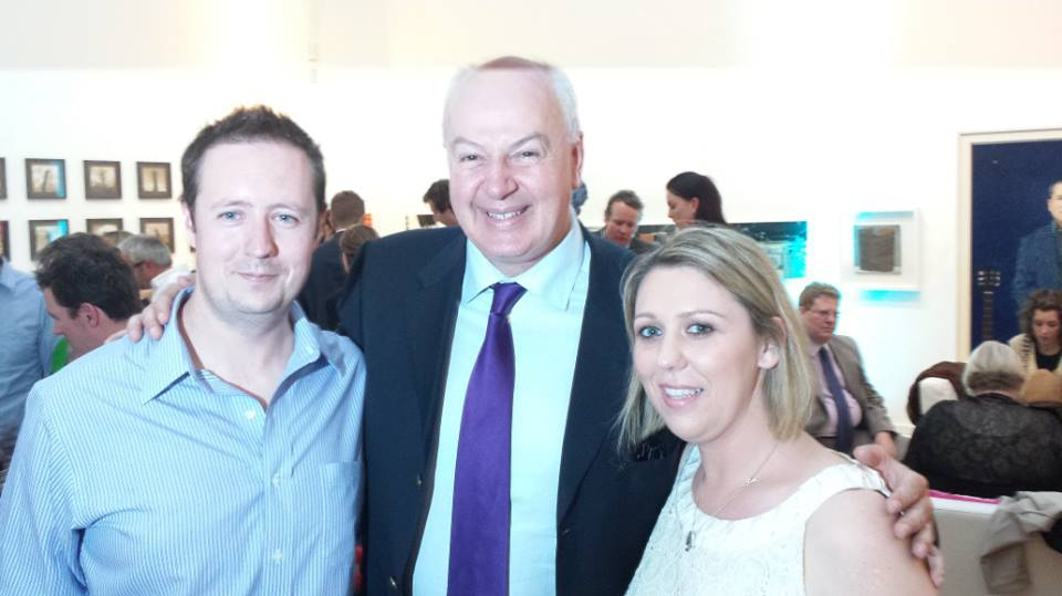 Aquababies with Bobby Kerr Irish entrepreneur and businessman