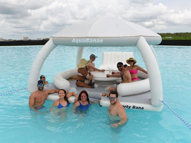Luxury resort style pool floats