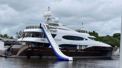 Best inflatable yacht water slide