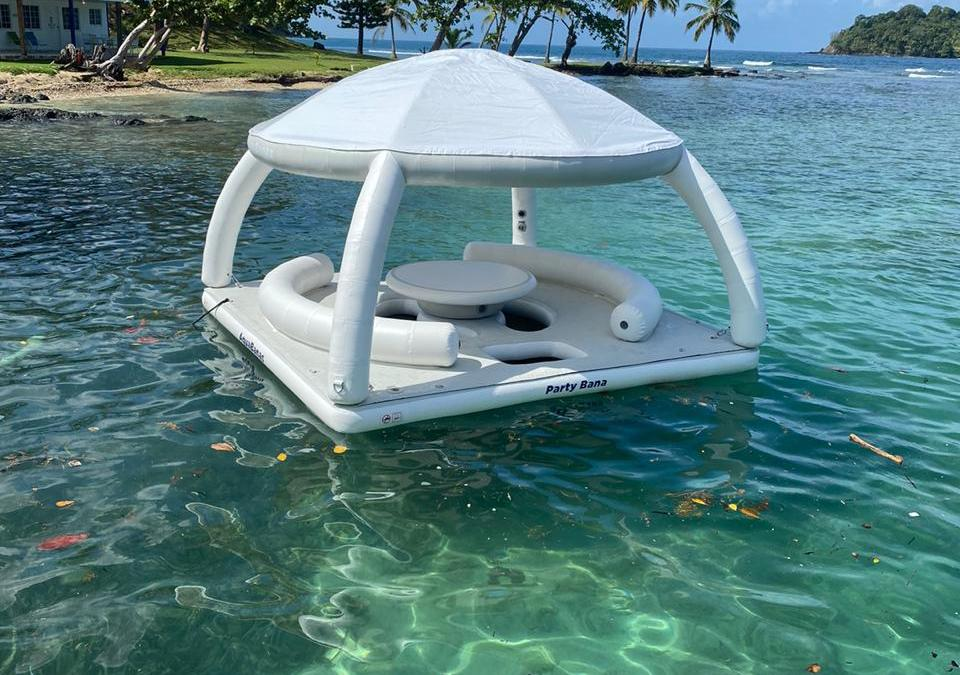 inflatable floating deck