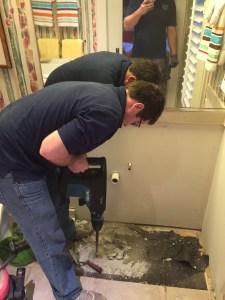 Repairing a Leak in the Slab