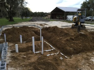 Underground Work for a New House