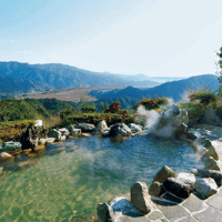 Japanese hot spring : open-air bath