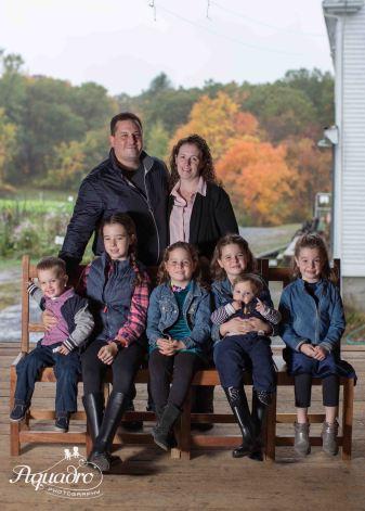 family, farm, barn, foliage, autumn, fall