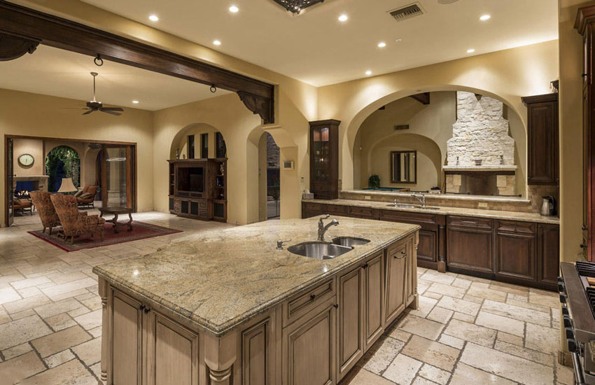 Typhoon Bordeaux Granite Nature S Piece Of Art In A Kitchen