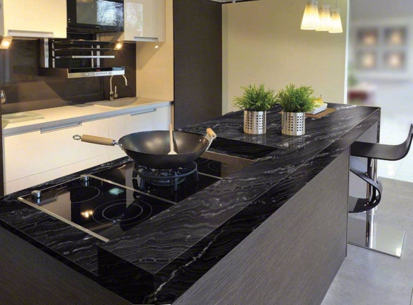 Black Granite Countertops Styles, Tips, VIDEO + INFOGRAPHIC on Dark Granite Countertops  id=26109