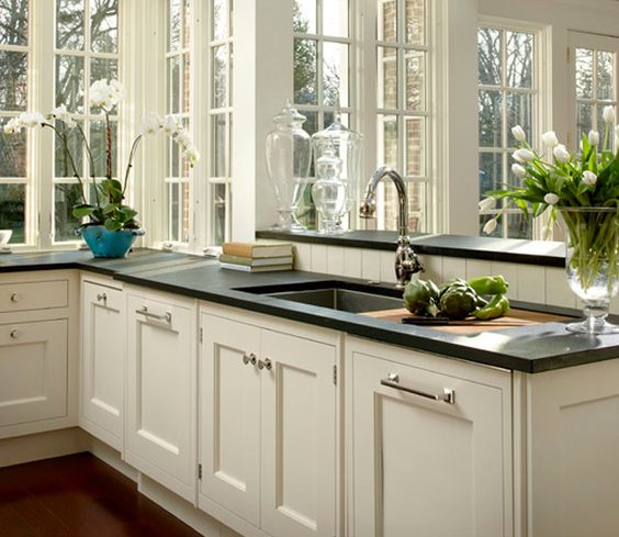 Black Granite Countertops Styles, Tips, VIDEO + INFOGRAPHIC on What Color Cabinets With Black Granite Countertops  id=25792