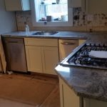 Viscont White Granite Countertop Installation Project In Wanaque Nj