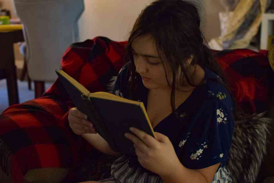 a child reading during homeschool