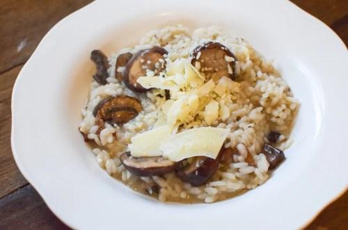 bacon and mushroom risotto