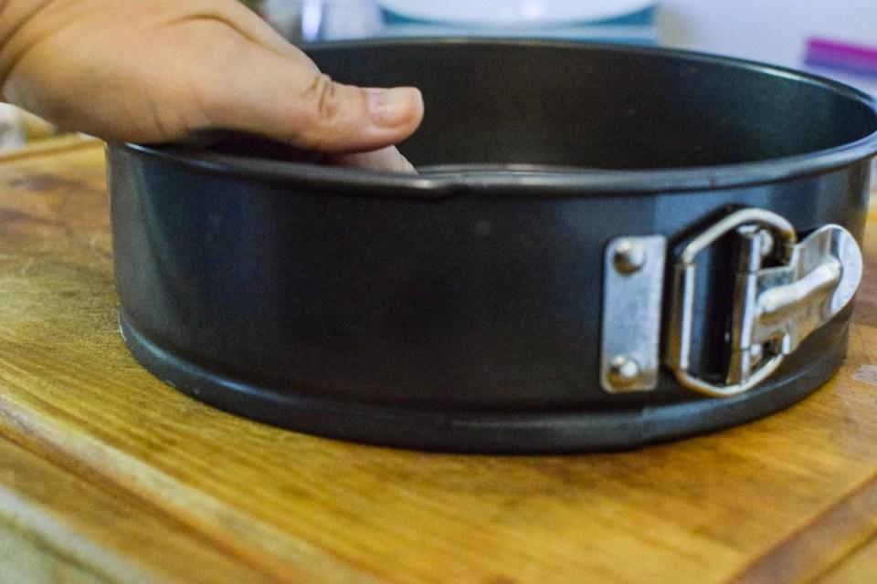 springform pan to make a classic cheesecake