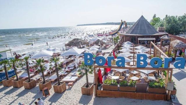 пляж Бора коблево