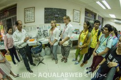 Thach Phanara explains to the students main activities of his deparment