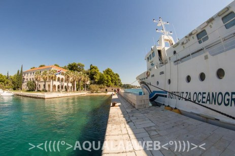 IOF Split - view of historical building and research vessel