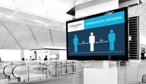 Social Distancing Digital Signage