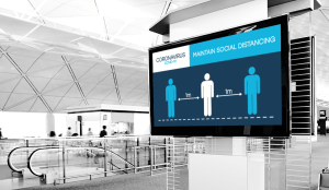 Social Distancing Digital Signage