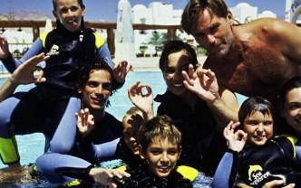 Unterwasser-Kindergeburtstag
