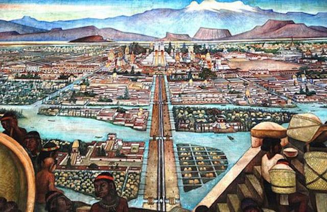 chinampas ancestrales à Tenochtitlan