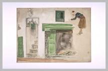 Delacroix Eugène, Portes et baies d'une maison mauresque, 1832, aquarelle et mine de plomb, 23,5 x 31, 3 cm, Département des arts Graphiques, musée du Louvre, Paris © Musée du Louvre, Département des Arts graphiques, RMN