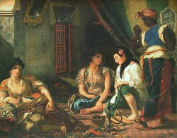 Delacroix Eugène, Femmes d'Alger dans leur appartement, 1834, Huile sur toile, H. : 1,80 m. ; L. : 2,29 m., Musée du Louvre, Paris © Musée du Louvre/A. Dequier - M. Bard