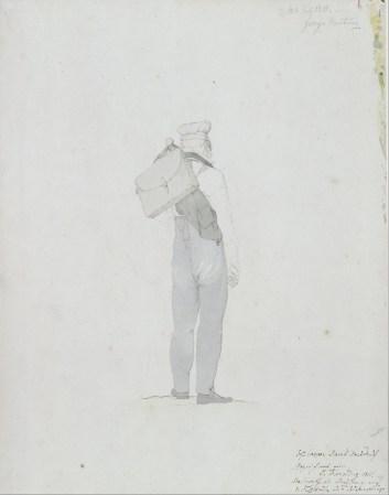 Kesrting Georg Friedrich, Caspar David Friedrich en randonnée dans le Riesengebirge, 1810, mine de plomb, rehauts d'aquarelle, 0,310 m x 242 m., Allemagne, Berlin, Kupferstichkabinett (SMPK), Google Art Project