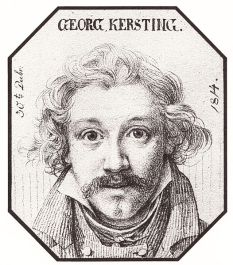 Kersting Georg Friedrich, Autoportrait, crayon, 30 décembre 1814, collection privée