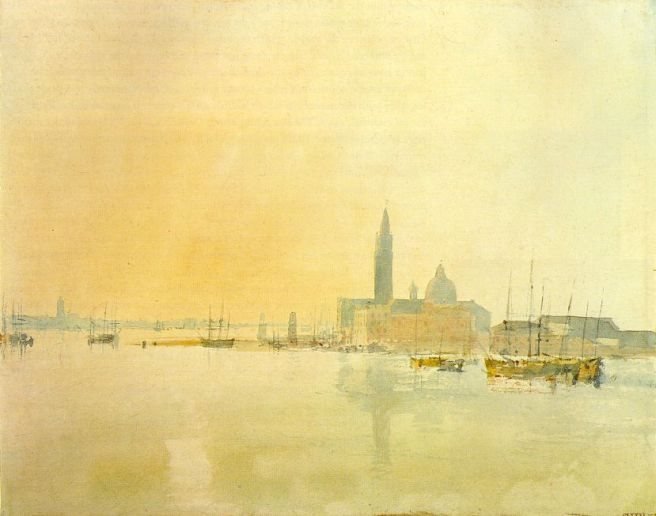 William Turner, San Giorgio Maggiore, 1819, aquarelle, 22,4x28,4, Tate Gallery , Londre, disponible sur http://www.ibiblio.org/wm/paint/auth/turner/ (consulté le 24/03/13)